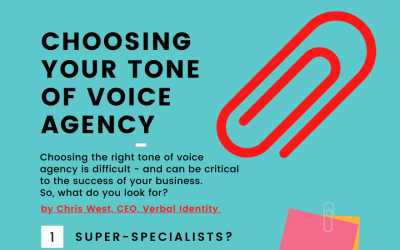 How to choose a tone of voice agency